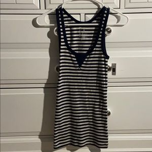 NWT Gap Blue & Gray Striped Tank Top Size S